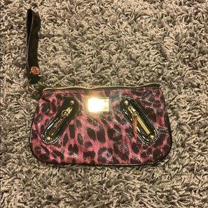 Betsey Johnson leopard clutch